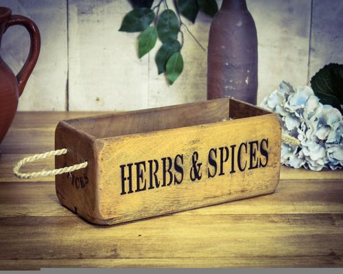 Vintage Box Small, Herbs & Spices